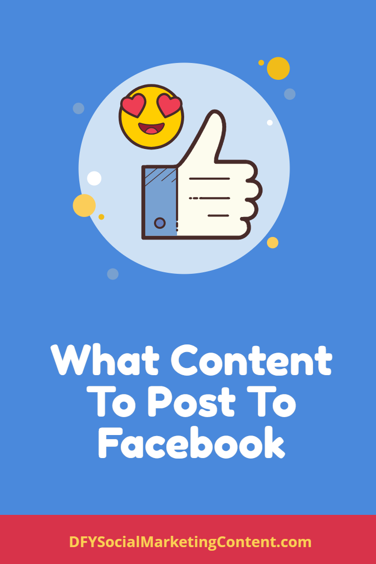 Not all social networks are created for the same type of content. Learn what content is working best for Facebook!