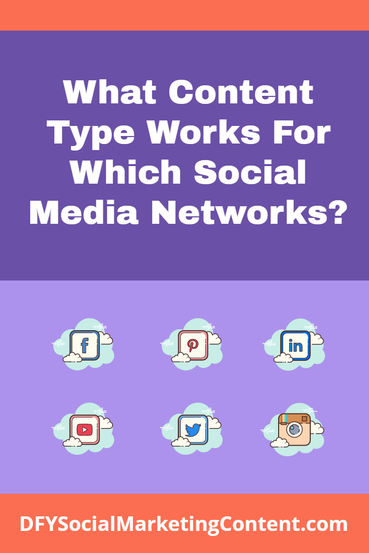 Not all social media networks are created equal and neither should your content game. Learn what content works for what networks in this detailed post